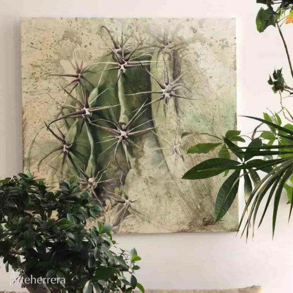 cactus deco lienzo herrera
