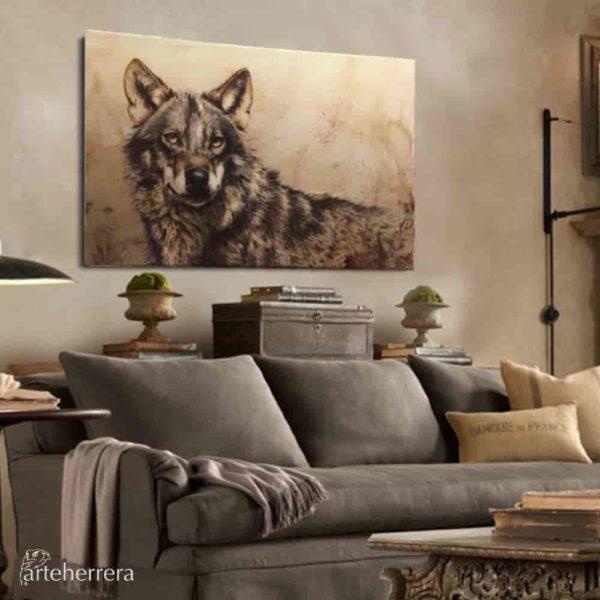 lobo wolf lienzo.herrera deco