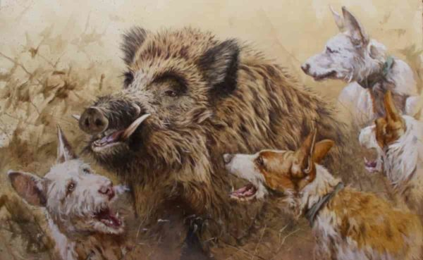 agarre jabali caza herrera lamina