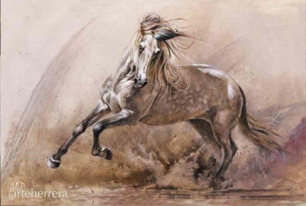 caballo espanol aire y tierra herrera lamina