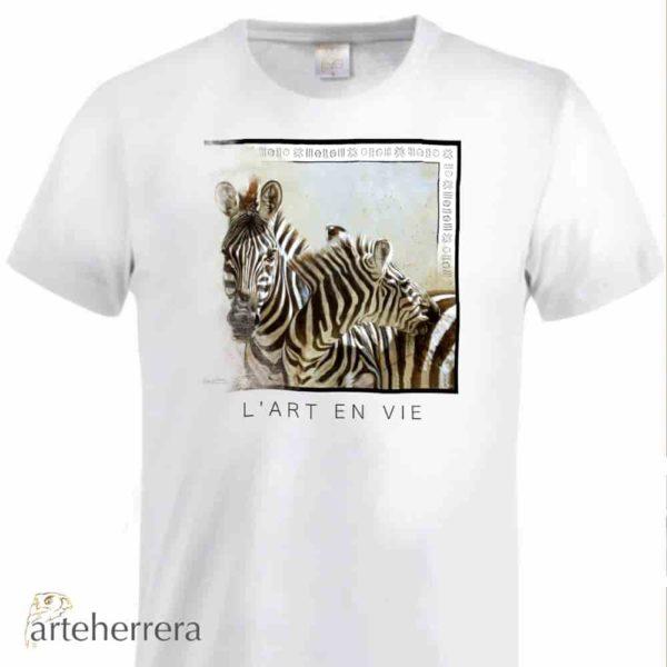 camiseta animales cebras arteherrera