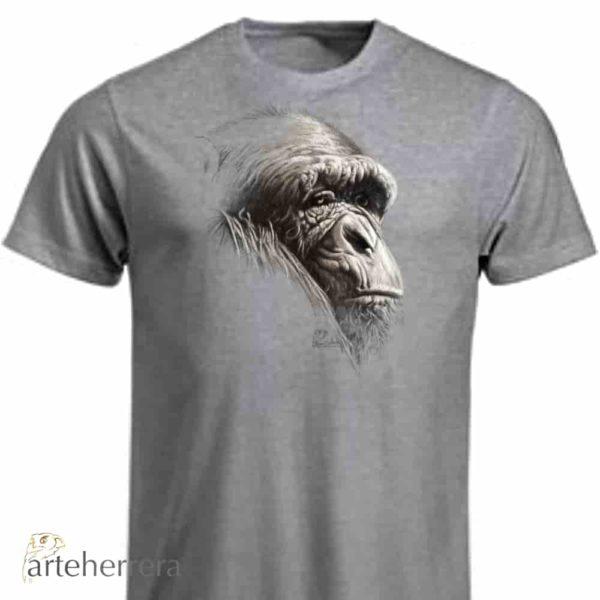 camiseta animales mono monkey arteherrera