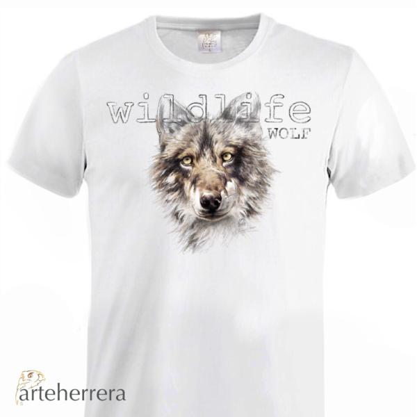 camiseta lobo wolf arteherrera