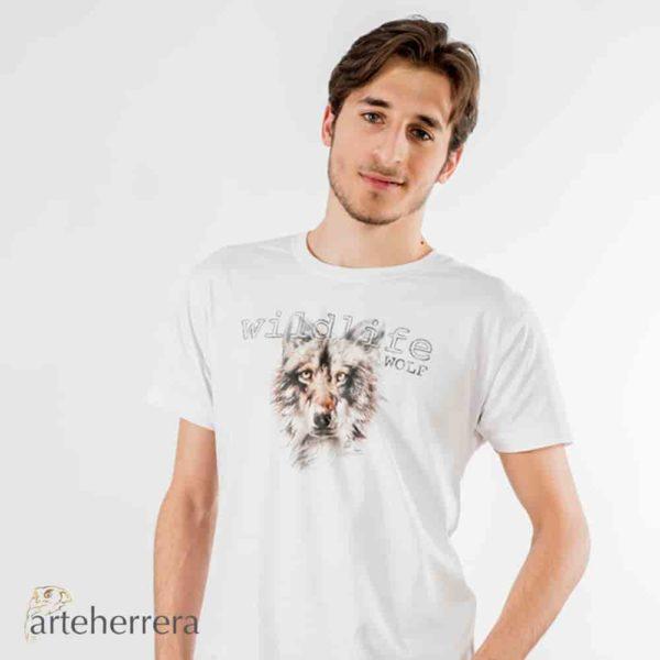 camiseta lobo wolf arteherrera modelo