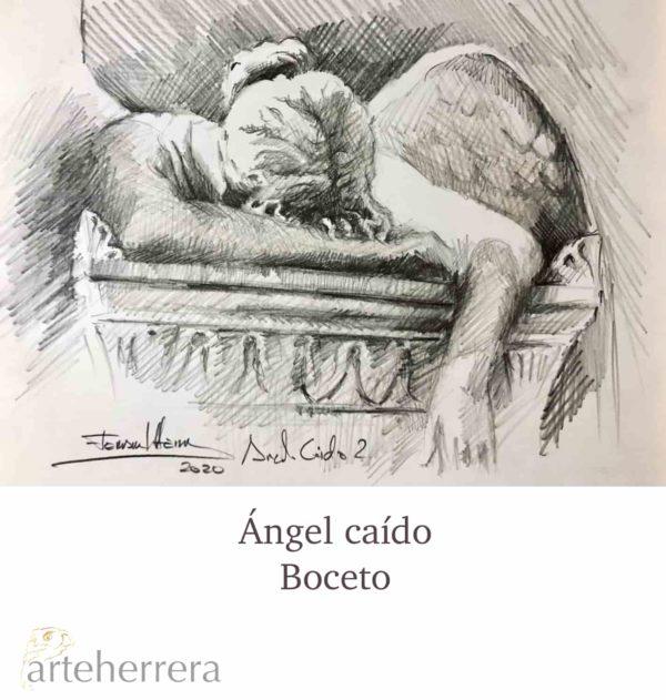 angel caido boceto herrera