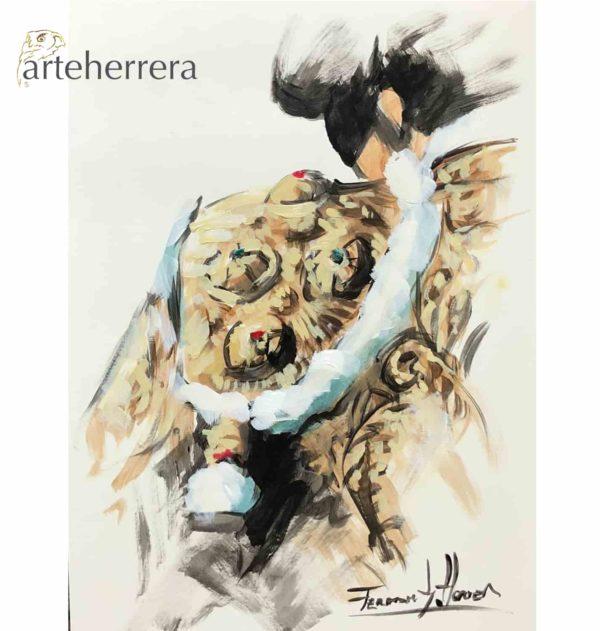 boceto torero oro herrera tauromaquia
