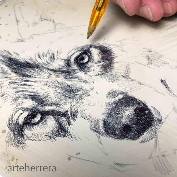 oleo lobo herrera dibujo