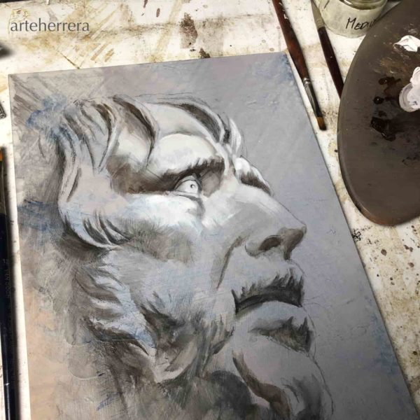 seneca cuadro herrera pintando