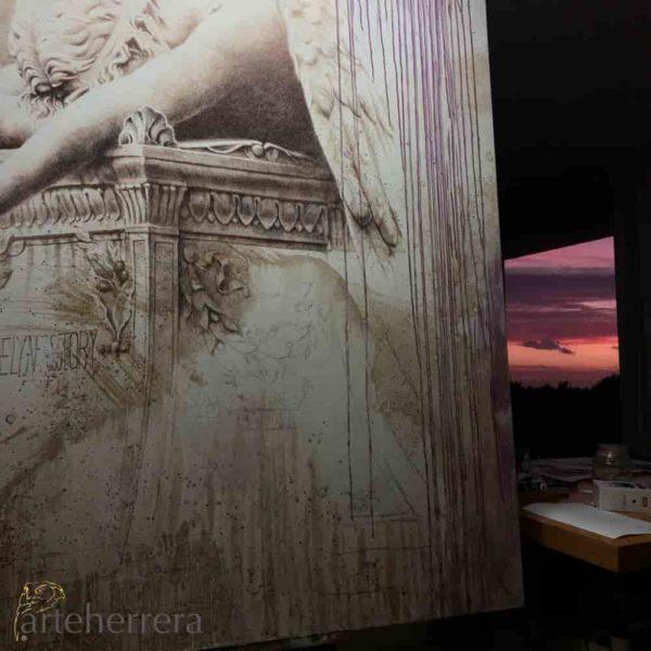 angel caido arteherrera puesta de sol bonita