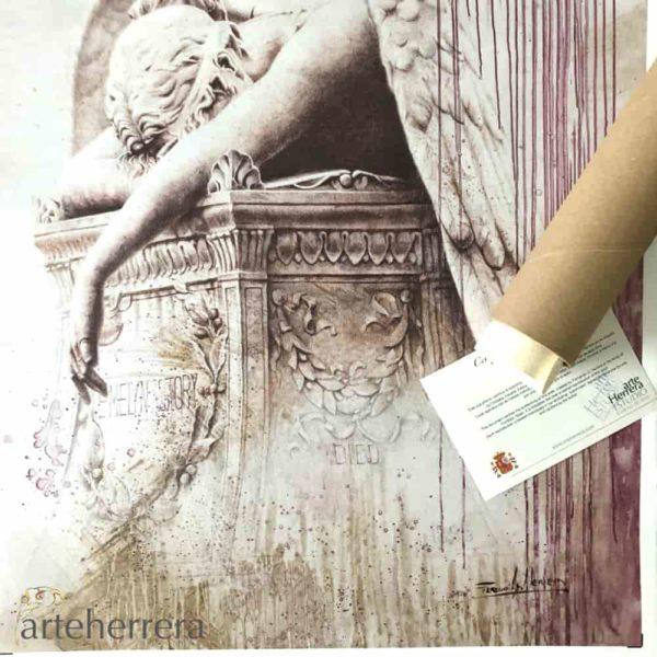 angel caido print arteherrera