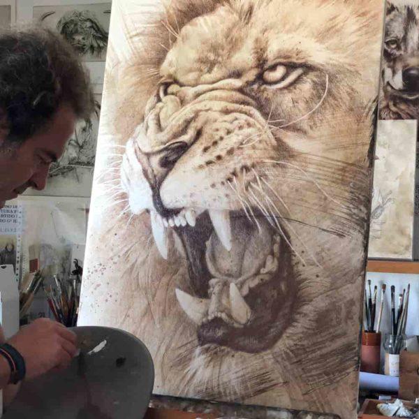 leon cuadro herrera dibujo arteherrera