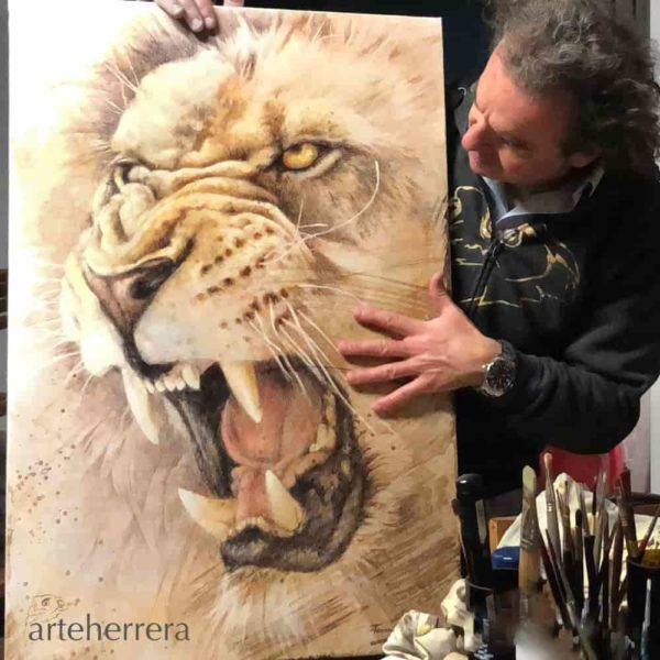 leon cuadro herrera lion arteherrera
