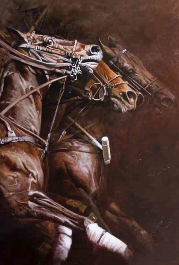 lienzo polo herrera caballos arteherrera