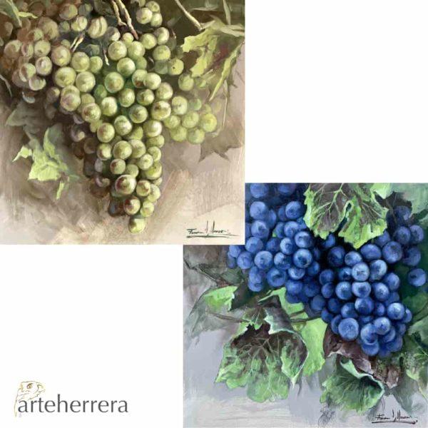 lamina uvas pareja arteherrera