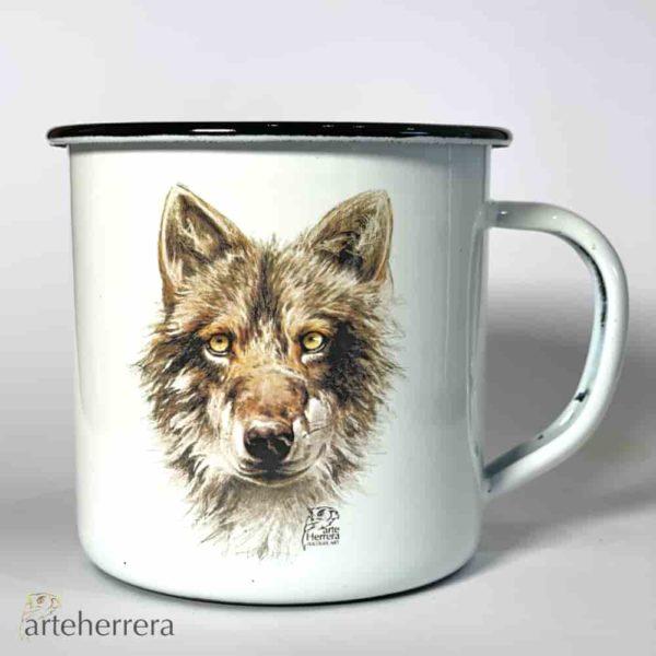 taza lobo arteherrera caza