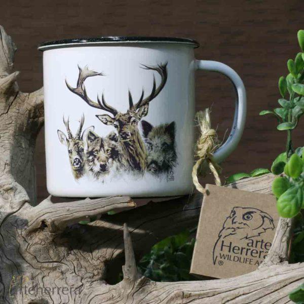 tazas arteherrera fauna iberica regalo