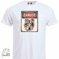 CAMISETA Danger blanca