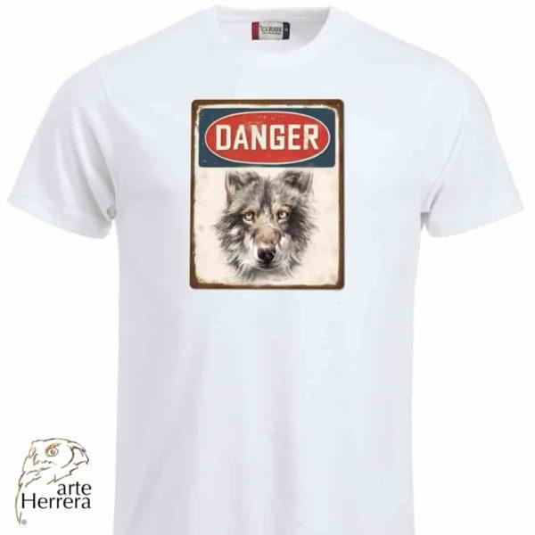 danger lobo camiseta arteherrera blanca web