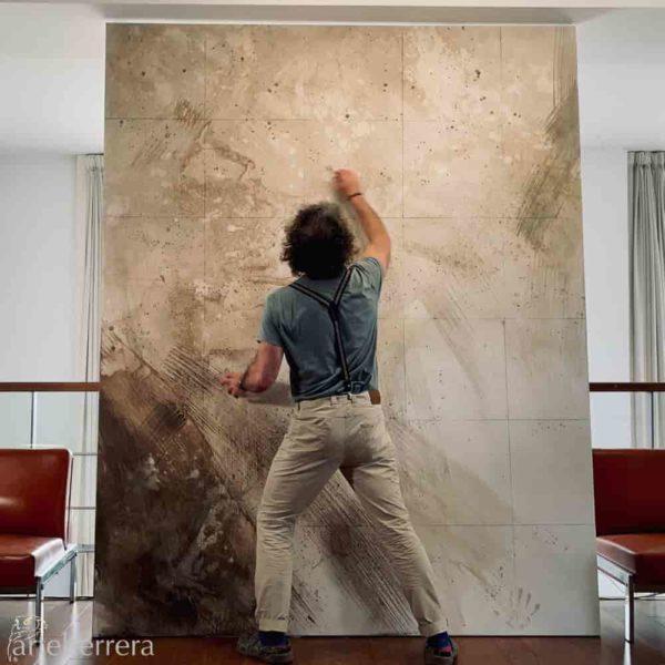 oro negro torero herrera artista lienzo